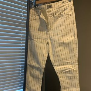 Citizens of humanity high rise crop striped pants